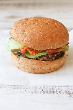 Vegan veggie and bean burgers