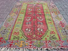 Funky antique Anatolian Turkish rug --OUSHAK Esme Nomads