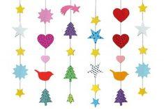 Adventsketten - Zum Herunterladen: Druckvorlagen für Adventsketten mit je 18 verschiedenen Motiven und Musterpapieren.