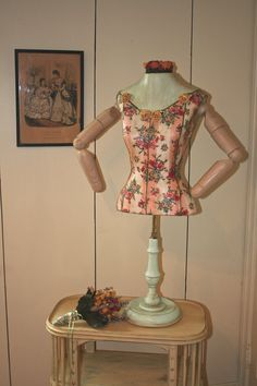 Dress Form Mannequin with Arms Floral by thewhiterabbitstudio