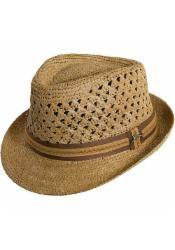619560eb Tommy Bahama Mens Crocheted Raffia Fedora Hat Fedora Hat, Tommy Bahama, Hats  For Men
