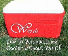 How to decorate and Mod Podge  a cooler.