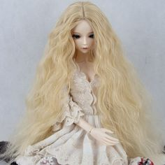 BJD / SD doll wig uncle M / baby girl carve long curly noodles volume of 12 points Doll Wigs, Dolls, Curly Noodles, Noodle Hair, Wholesale Toys, Long Curly, Stuffed Toys, Carving, Long Hair Styles