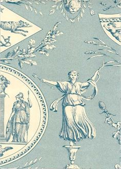 Aphrodite Wallpaper Blue and cream Aphrodite scenic wallpaper