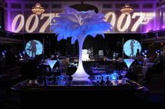 Elegant 007 James Bond party theme. Find everything you need to plan your own James Bond Casino Royale Party at http://sparklerparties.com/casino-royale/
