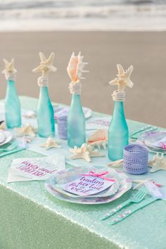 There are plenty of fun bachelorette party ideas that you can implement into your bash. Beach Bachelorette, Bachelorette Party Decorations, Bachelorette Themes, Mermaid Bridal Showers, Mermaid Parties, Party Prizes, Glass Bottle Crafts, Glass Bottles, Diy Bottle