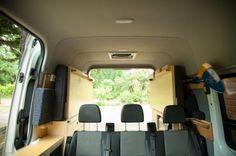 Hoogslaper dubbel DIY vouwbed opklapbaar in Sprinter camper