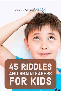 45 Riddles and Brainteasers for Kids | My kids love a good brainteaser, and they can't get enough of these riddles! Here are our favorites, and some that left us stumped.