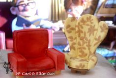 KuroHouse of Craft: Carl and Ellie chairs wedding cake topper