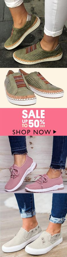 Comfortable Flat Bottom Breathable Shoes - All About Comfortable Flats, Comfy Shoes, Cute Shoes, Comfortable Fashion, Famous Speeches, Lace Up Flats, Casual Loafers, Bow Sneakers, Casual Chic Style