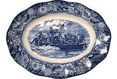 English Transferware Platter - Liberty Blue