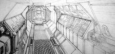 Alien: Nostromo Interior Corridor / Ron Cobb