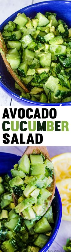 Refreshing, bright and tangy Avocado Cucumber Salad. Ready in less than 10…