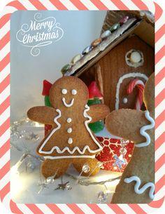 Casa y muñecos de jengibre #arapostres #galletas #navidad