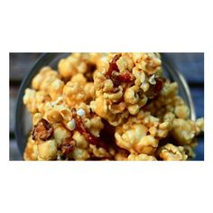 Bacon Truffle Pecorino Popcorn ❤ liked on Polyvore featuring home and kitchen & dining