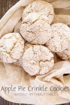 Apple Pie Crinkle Cookies...perfect combo of apple, cinnamon, and vanilla all wrapped up in a scrumptious cookie.