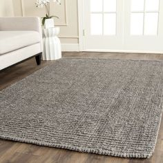 Andover Mills™ Jeremy Handwoven Jute Light Gray Area Rug & Reviews | Wayfair Outlet Store, Braided Area Rugs, Natural Fiber Rugs, Natural Rug, Jute Rug, Seagrass Rug, Cool Rugs, Grey Rugs, Gray Area Rugs