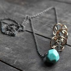 Urban Aviary jewelry: love the contrast in textures