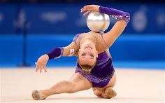 England's Stephani Sherlock competes in the Rhythmic Gymnastics Individual All Round Final in Glasgow