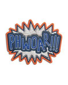 Phwoar!!! Sticker for Handbag, Silver - Anya Hindmarch