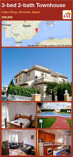 3-bed 2-bath Townhouse in Cabo Roig, Alicante, Spain ►€99,995 #PropertyForSaleInSpain