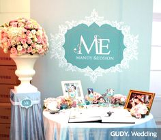 婚禮佈置♥水藍色清新婚禮x板橋典華 ♥