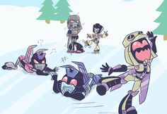 I would ice skate with Blitz; help Starscream; kick the one clone; and push Swindle and Megatron on their.............. nevermind.......