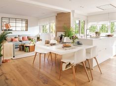 8 Dreamy Island ideas for a stylish and practical kitchen - Daily Dream Decor Home Decor Kitchen, Diy Kitchen, Kitchen Interior, Home Kitchens, Kitchen Dining, Dining Rooms, Dining Table, Kitchen Island Table, Kitchen Benches