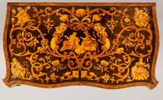 Marquetry Antique Games Table | From a unique collection of antique and modern game tables at https://www.1stdibs.com/furniture/tables/game-tables/