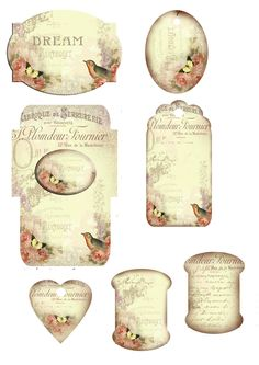 LABELS - Vintage Printable Free Tags.