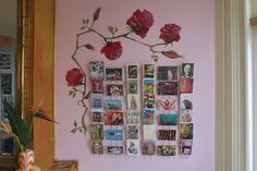 roses on the wall painted by me Photo Wall, Roses, Frame, Home Decor, Picture Frame, Photograph, Decoration Home, Pink, Room Decor