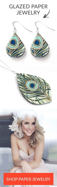 Such a unique First Anniversary Gift for Her! There is an artist in San Francisco who turns exotic paper into jewelry. The peacock design is my favorite and it's made from Italian paper. This is such a perfect way to honor the paper anniversary tradition!
