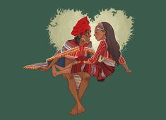 from Gaddang tribe in Cagayan valley region of Northern Luzon Gaddang couple Philippine Mythology, Philippine Art, Filipino Art, Filipino Culture, Sketch Inspiration, Character Design Inspiration, Filipino Fashion, Baybayin, Philippines Culture