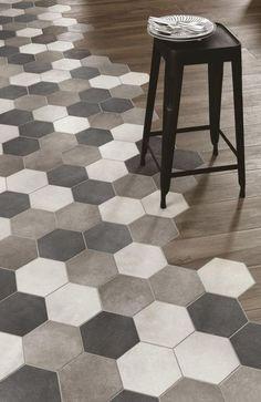 Bath Room Tiles Hexagon Woods 37 Ideas For 2019 Room Tiles, Bathroom Floor Tiles, Wood Bathroom, Kitchen Tiles, Kitchen Colors, Kitchen Flooring, Kitchen Wood, Bathroom Ideas, Tub Tile
