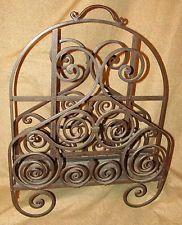 Hand Wrought Iron Art Deco or Arts & Crafts Magazine Rack Holder Magazine Stand, Magazine Holders, Magazine Rack, Iron Art, Wrought Iron, Arts And Crafts, Art Deco, Antiques, Vintage