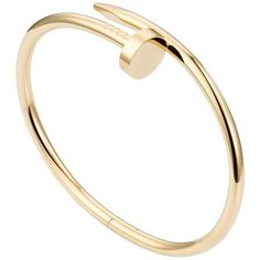 Cartier Bracelet Bangle Juste Un Clou Yellow Gold (637720 RSD) ❤ liked on Polyvore featuring jewelry, bracelets, bangles, yellow, gold jewelry, gold bracelet bangle, hinged bangle, gold bangles and 18k gold jewelry