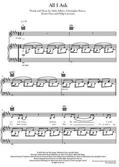 All I Ask Adele >>> KLICK auf die Noten um Reinzuhören <<<