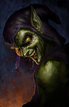 Green Goblin by Sanjay Charlton - Marvel Comics. Marvel Villains, Marvel Comics Art, Marvel Vs, Marvel Heroes, Comic Book Characters, Marvel Characters, Comic Character, Fantasy Characters, Comic Books