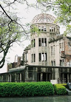 Hiroshima Atomic Bomb Dome, Japan : the skeletal domed building in Hiroshima which still stands to commemorate the dropping of the atom bomb.