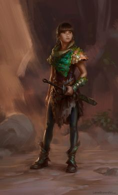 Adventurer #1 : Thora by Wildweasel339 armor clothes clothing fashion player character npc | Create your own roleplaying game material w/ RPG Bard: www.rpgbard.com | Writing inspiration for Dungeons and Dragons DND D&D Pathfinder PFRPG Warhammer 40k Star Wars Shadowrun Call of Cthulhu Lord of the Rings LoTR + d20 fantasy science fiction scifi horror design | Not Trusty Sword art: click artwork for source