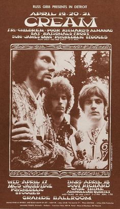 Cream at the Grande Ballroom, April 1968 - concert poster oh yes!!