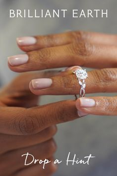 """Tell your special someone what's on your wish list. Click """"Drop a Hint"""" on any item and we'll send them a hint (so you don't have to). Dream Engagement Rings, Engagement Ring Settings, Solitaire Engagement, Love Ring, Dream Ring, Wedding Wishes, Wedding Favors, Wedding Invitations, Wedding Ideas"""