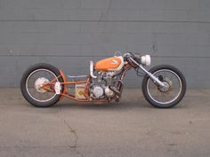 My first bike was an ugly orange Honda,  Broke my back on that ugly bike.... Might have liked it if had a front end like this...