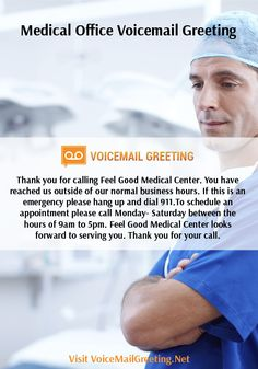 Voicemail greeting samples voicemailgreet on pinterest 75540cfdf22ae6d88faf1a31ea4dd8c7 to create medicalg m4hsunfo