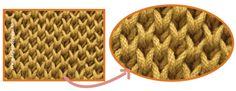 Punto brioche doble (double brioche stitch)