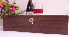 Beautiful Rustic Love Letter Wine Box  hand by AngisSouthernChic, $54.99