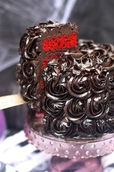 Red Velvet Halloween Cake | The Seaside Baker #delicious #recipe #cake #desserts #dessertrecipes #yummy #delicious #food #sweet