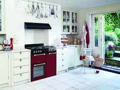 Leisure Cookmaster Dual fuel range cooker lifestyle kitchen Red CK90F232R 90cm