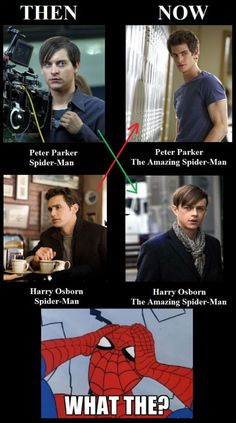 I don't like the new cast. Peter is supposed to be the nerd, and Harry is the cool guy. *sigh*