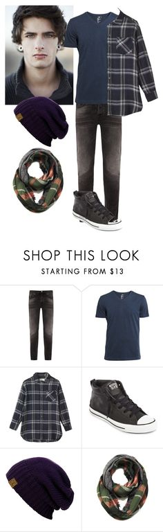 """Anthony Wilks"" by nerissa-kirkland ❤ liked on Polyvore featuring Nudie Jeans Co., H&M, Toast, Converse, story, MensFashion and OC"